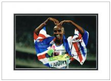 Mo Farah Signed Photo - Mobot